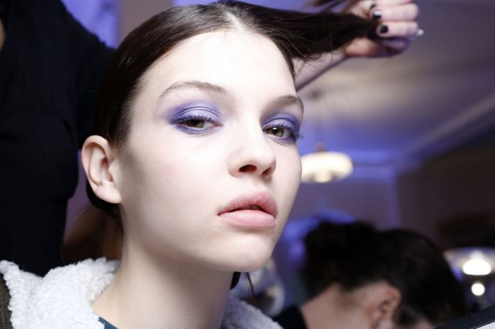 Purple Eye Lids Bridal Beauty Ideas