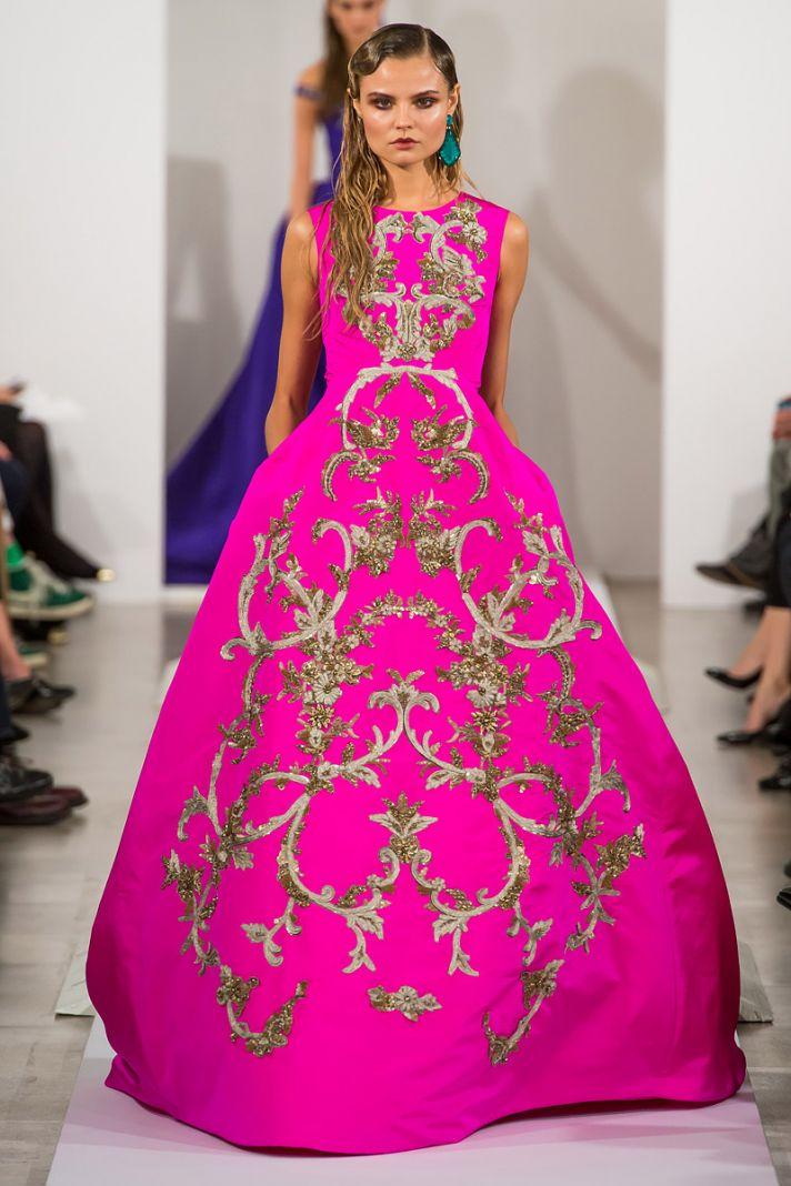 Hot Pink Gown by Oscar de la Renta