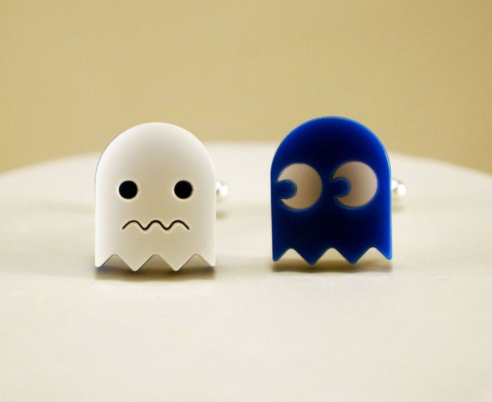 Pacman Ghost Wedding Cufflinks