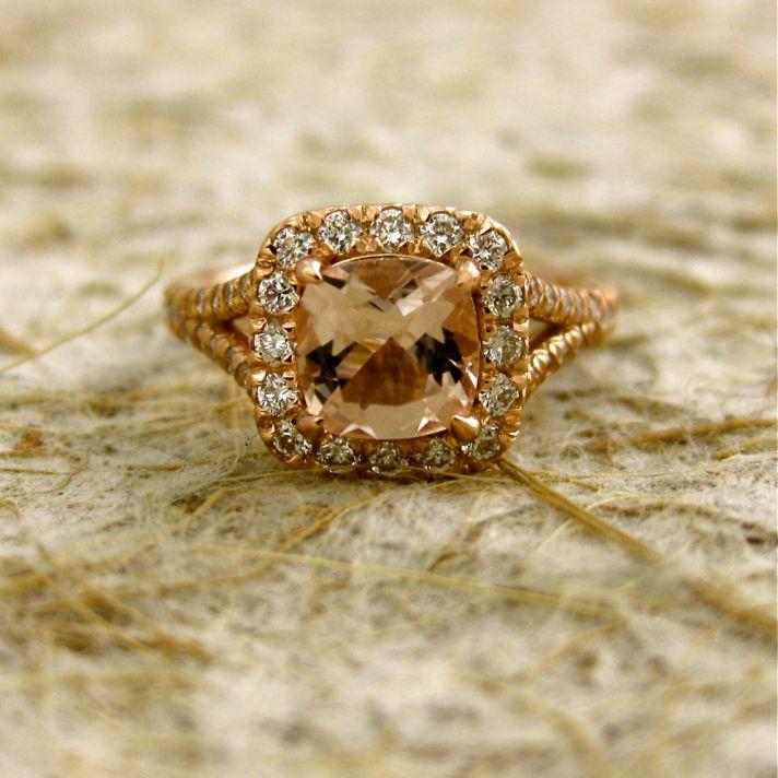 Pink Morganite Engagement Ring