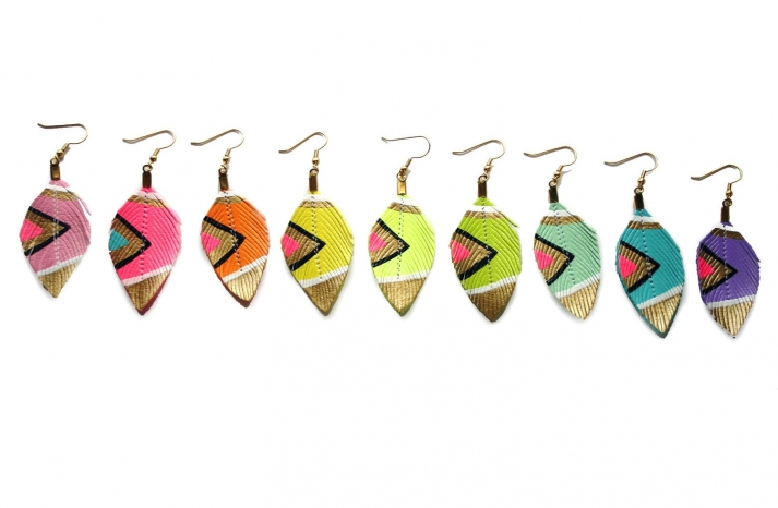 Colorful Tribal Earrings for Bridesmaids