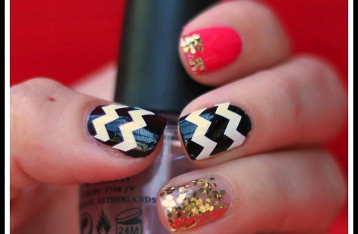 funky wedding nail art