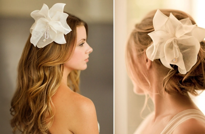 Romantic wedding hair accessories by Alice Padrul 2
