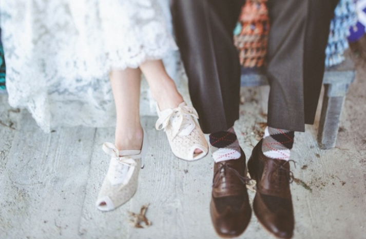 BHLDN laceup wedding shoes artistic photography