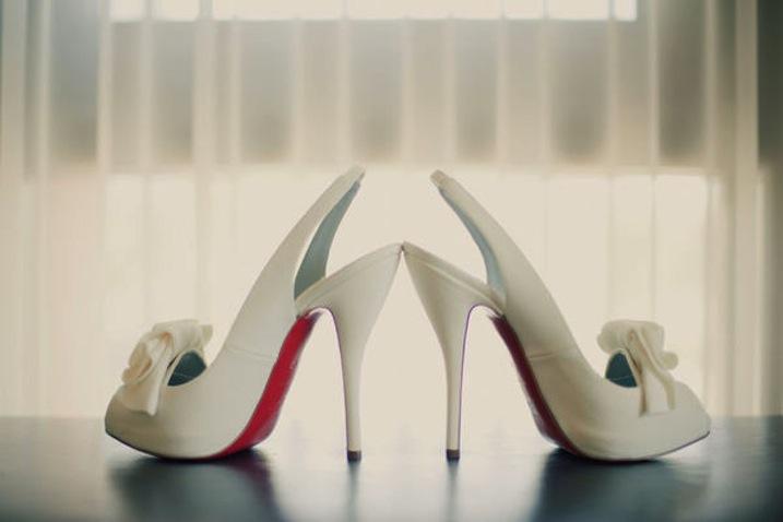christian louboutin ivory satin platform wedding shoes - Bavilon Salon
