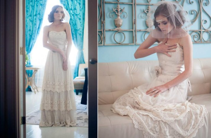Lace wedding gowns handmade bridal 6