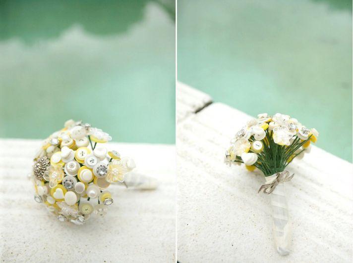 Unique wedding bouquets buttons 1