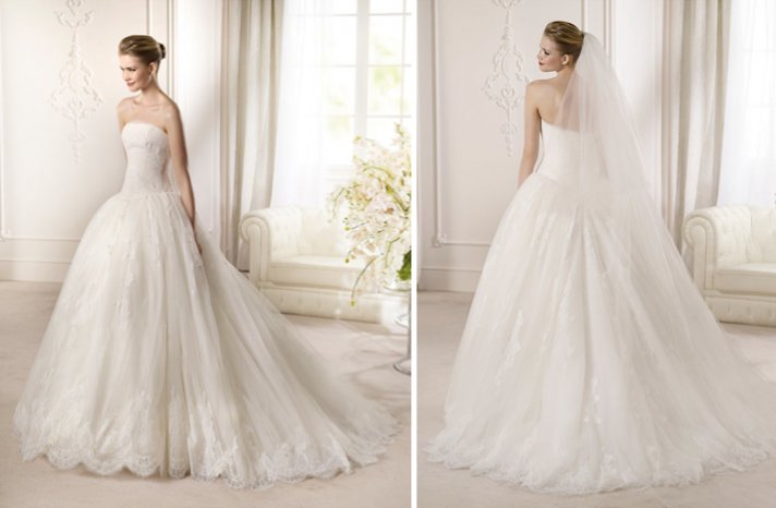2013 Wedding Dress San Patrick Bridal Costura collection Ampurius ballgown