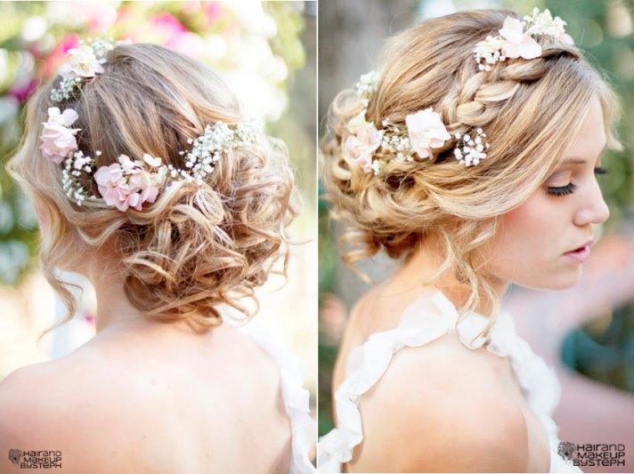 Braided wedding hairstyle bridal beauty 2
