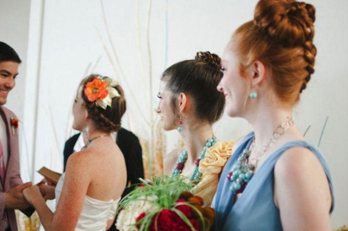 Braided wedding updos times three