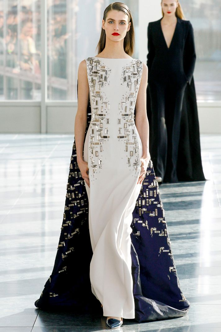 Ivory Antonio Berardi gown with art deco beading