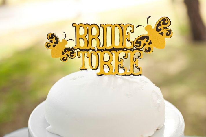 Adorable wedding cake topper bride to bee