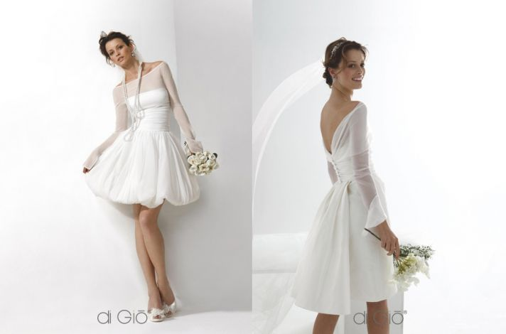 little white wedding dresses from spose di gio onewed