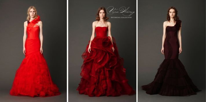 vera wang spring 2013 bridal collection in red