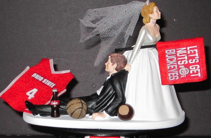 Funny wedding cake topper March Madness