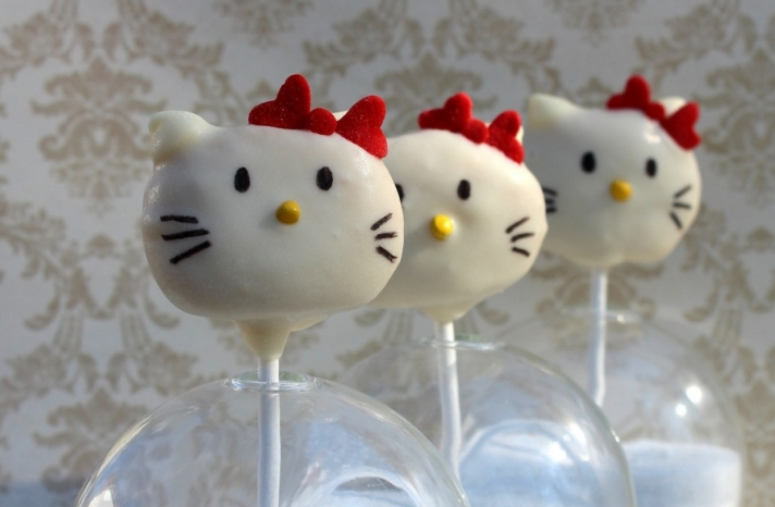 Hello Kitty Cake Pops for wedding reception