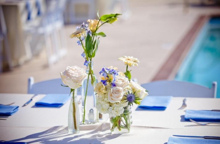 Simple elegant wedding reception centerpieces
