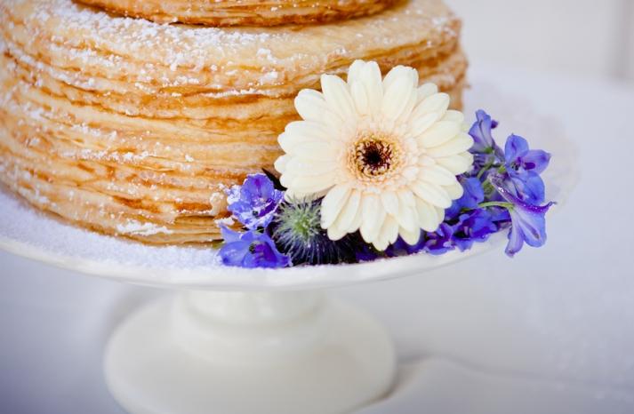 Wedding Cake Alternative Powder Sugar Crepes