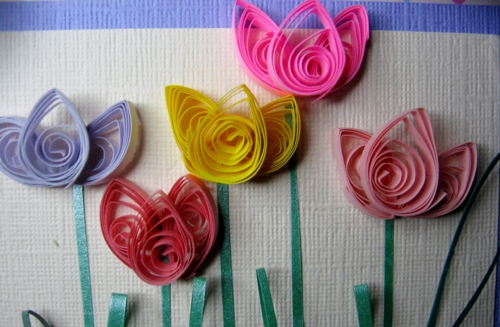 Handmade tulips for wedding backdrop