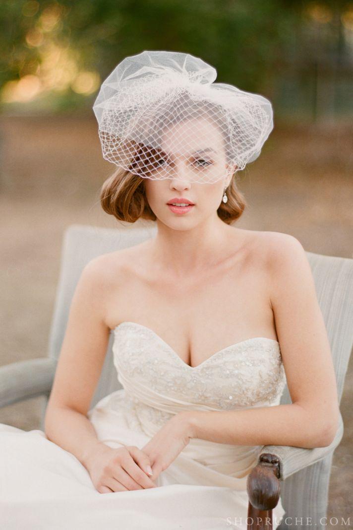 Vintage wedding veil by Ruche
