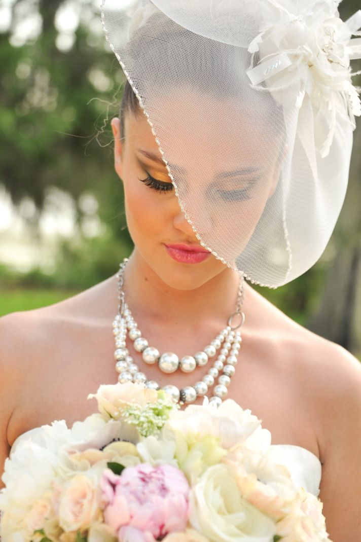Dramatic lashes and a romantic peony bridal bouquet