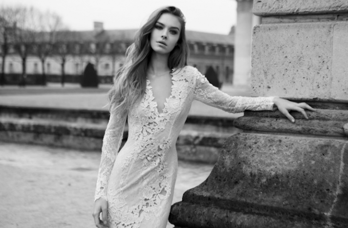 Lace sleeved wedding gown 2013 Bridal by Berta