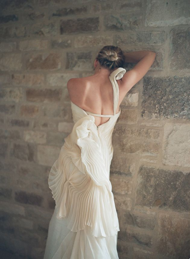Bride Chic 5 Trends for Fall 2014 Pleats Elizabeth Messina