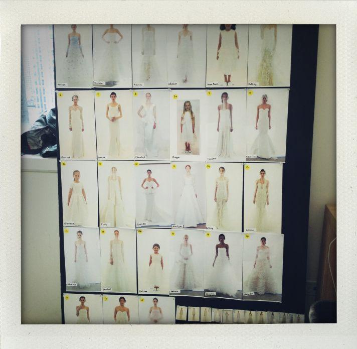 Oscar de la Renta Bridal Spring 2014 Wedding Dress Collection Backstage 5