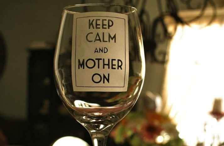 Mothers Day gift ideas from the bride keep calm wine glasses