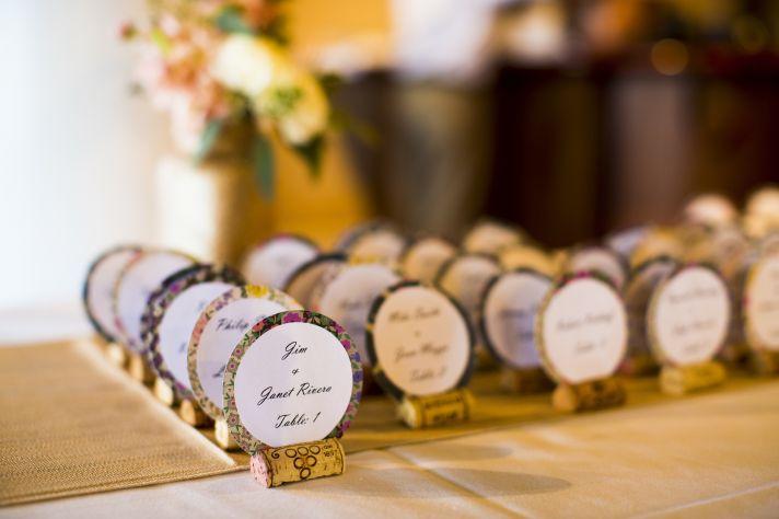 Florida wedding reception details escort cards