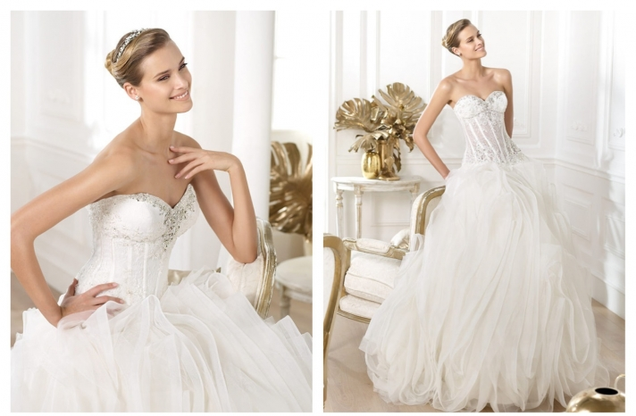 Pronovias wedding dress pre 2014 bridal Dreams collection Lexas