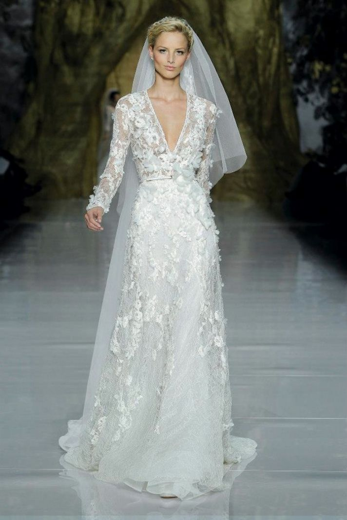 First look beautiful new wedding dresses by elie saab elie saab wedding dress 2014 pronovias bridal 1 junglespirit Images
