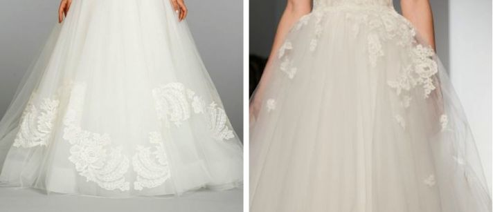 1 lace wedding dress trends spring 2014 fall 2013 christos lazaro tulle ball gown