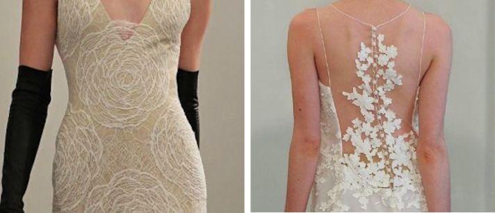 3 lace wedding dress trends spring 2014 fall 2013 modern angel sanchez vera wang