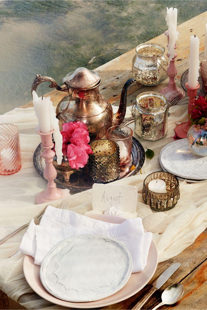 summer wedding tablescape decor from BHLDN