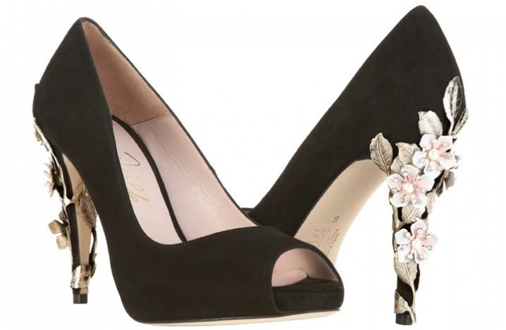 Wedding shoes by Harriet Wilde bridal heels black with embellishing