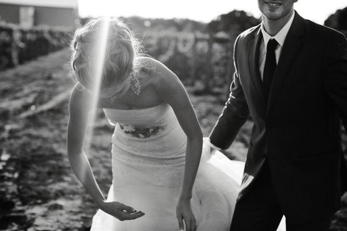Winery wedding at Villa Bellezza romantic bridal bouquet