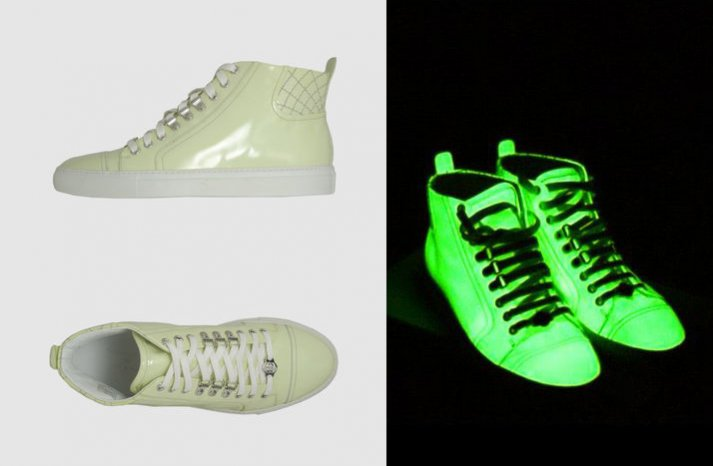 High top glow wedding shoes