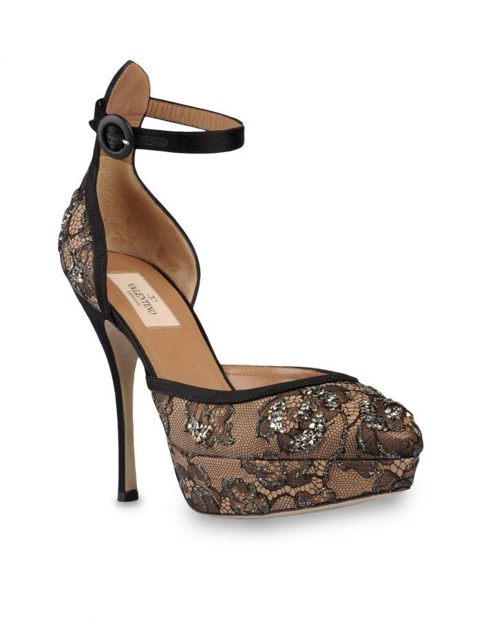 Valentino lace and crystal bridal pumps