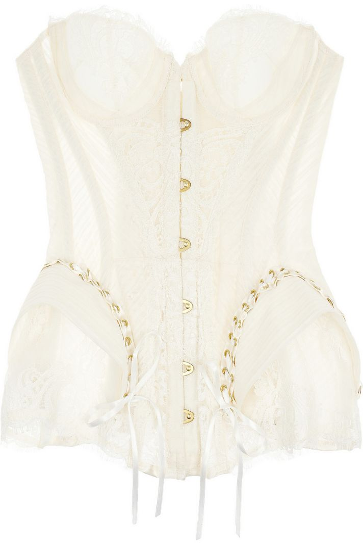 lace and tulle bridal corset
