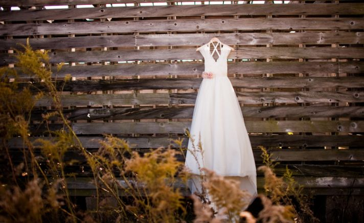 rustic barn wedding IL photographers classic bridal gown