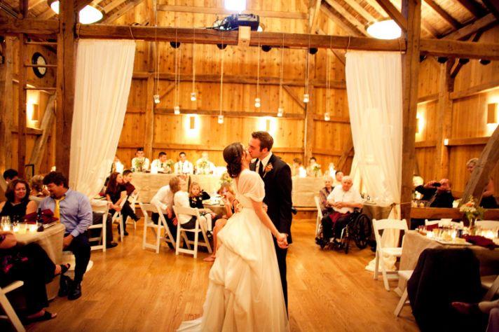 rustic barn wedding IL photographers first dance