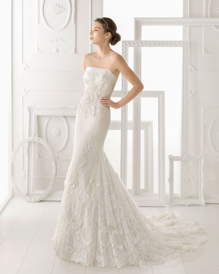 Aire Barcelona wedding dress 2014 Bridal Osnel
