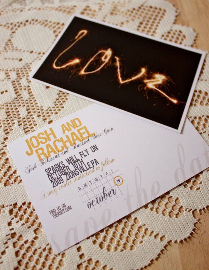 Love sparkler wedding save the date