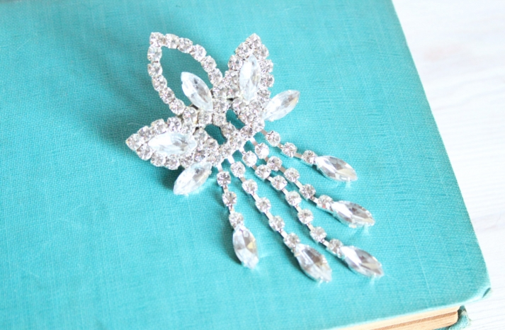 Gatsby inspired crystal wedding hair comb