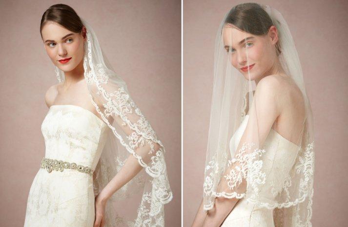 BHLDN wedding veils 2013 classic ivory lace