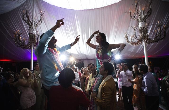Indian wedding reception fun Chicago weddings