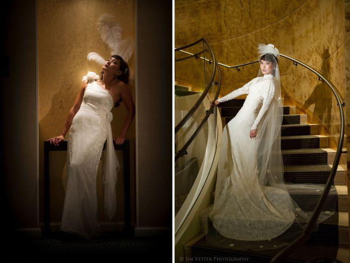 Art deco meets modern city chic wedding style