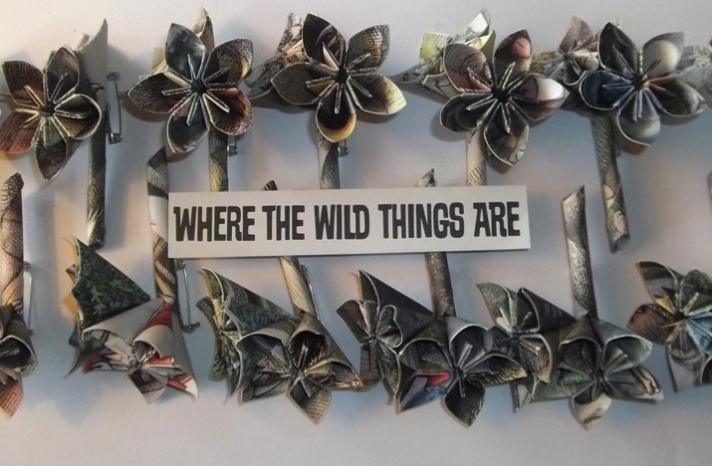 Wedding boutonnieres for Where the Wild Things Are theme