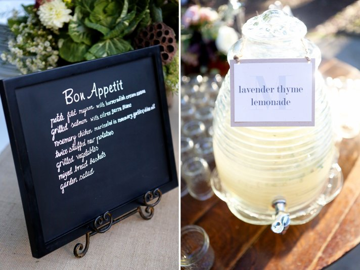 Simple elegant wedding reception place setting